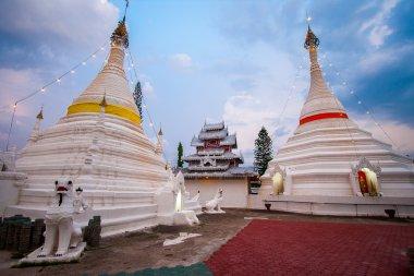 pagoda in sunset at Wat Phra That Doi Kong Mu, Mae Hong Son