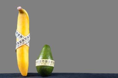 fresh, fruit, team, measure tape