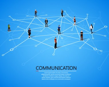 Connecting people. Social network concept. Vector illustration stock vector