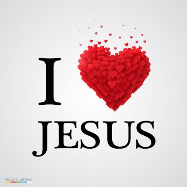 i love Jesus heart sign.