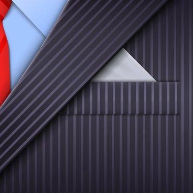 Unusual tuxedo background. Design template. Vector illustration stock vector
