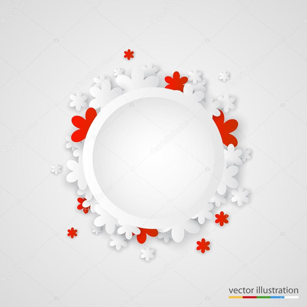 Beautiful paper flower ring background