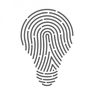 Symbol fingerprint as light bulbs