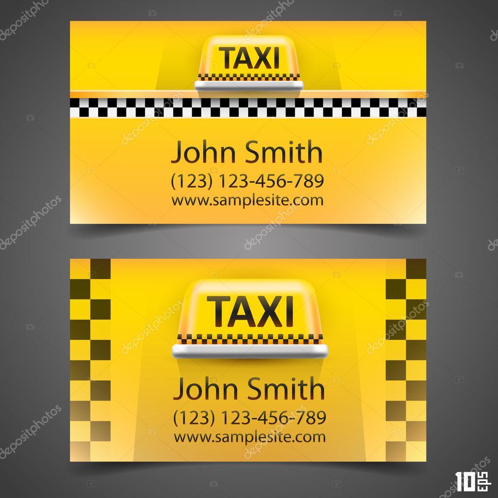 Taxi Visitenkarte Stockvektor Hobbit Art 64730963