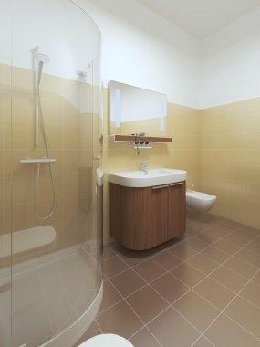 Interior bathroom in Contemporary style.