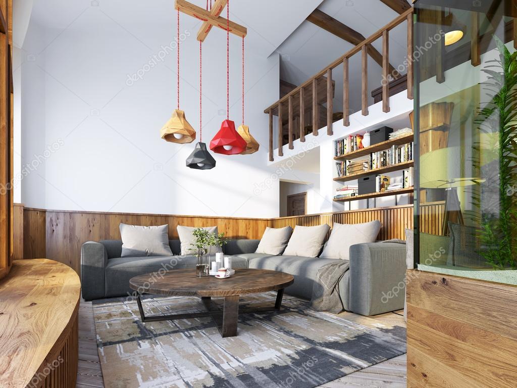 Modern living room in a loft style. — Stockfoto © kuprin33 #104596924