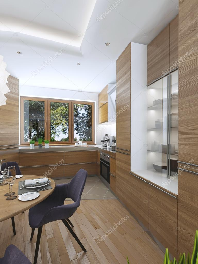 Modern Kitchen In The Dining Room Contemporary Style