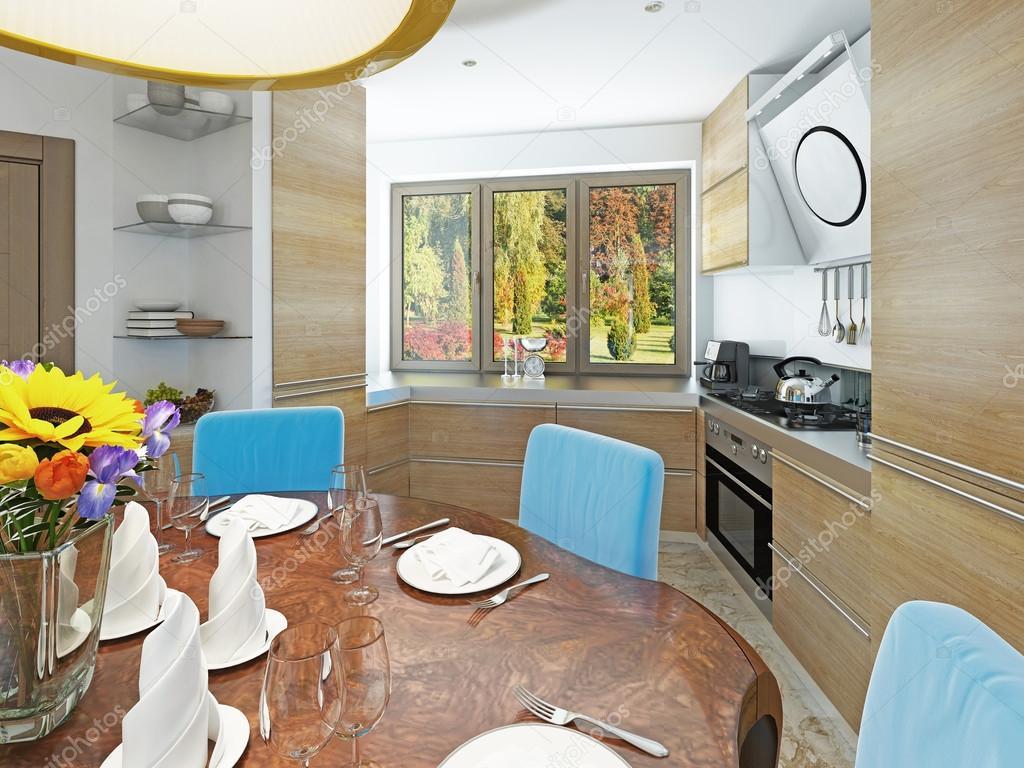 Moderne Küche-Esszimmer im Stil von kitsch — Stockfoto © kuprin33 ...