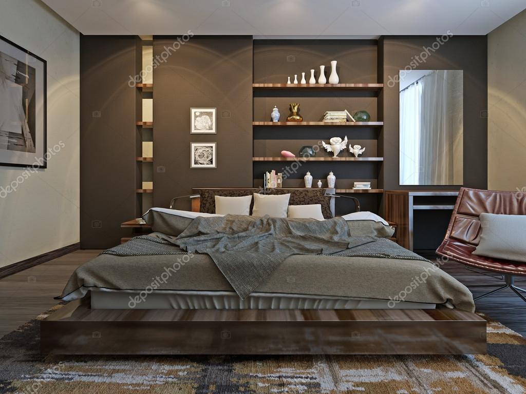 Slaapkamer interieur in moderne stijl u2014 stockfoto © kuprin33 #51834703