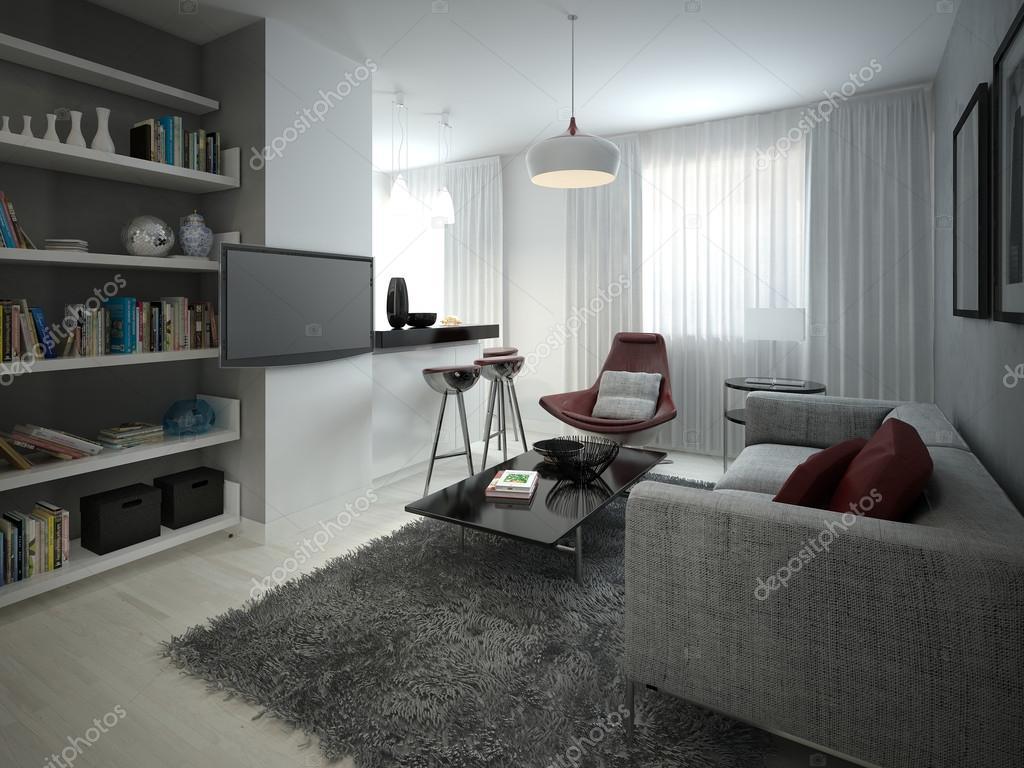 Wohnzimmer modern eingerichtet — Stockfoto © kuprin33 #51834759