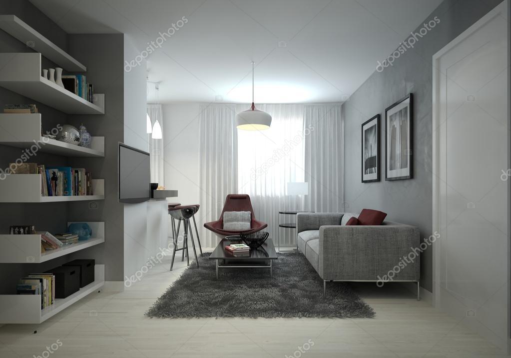 soggiorno stile moderno — Foto Stock © kuprin33 #51834763