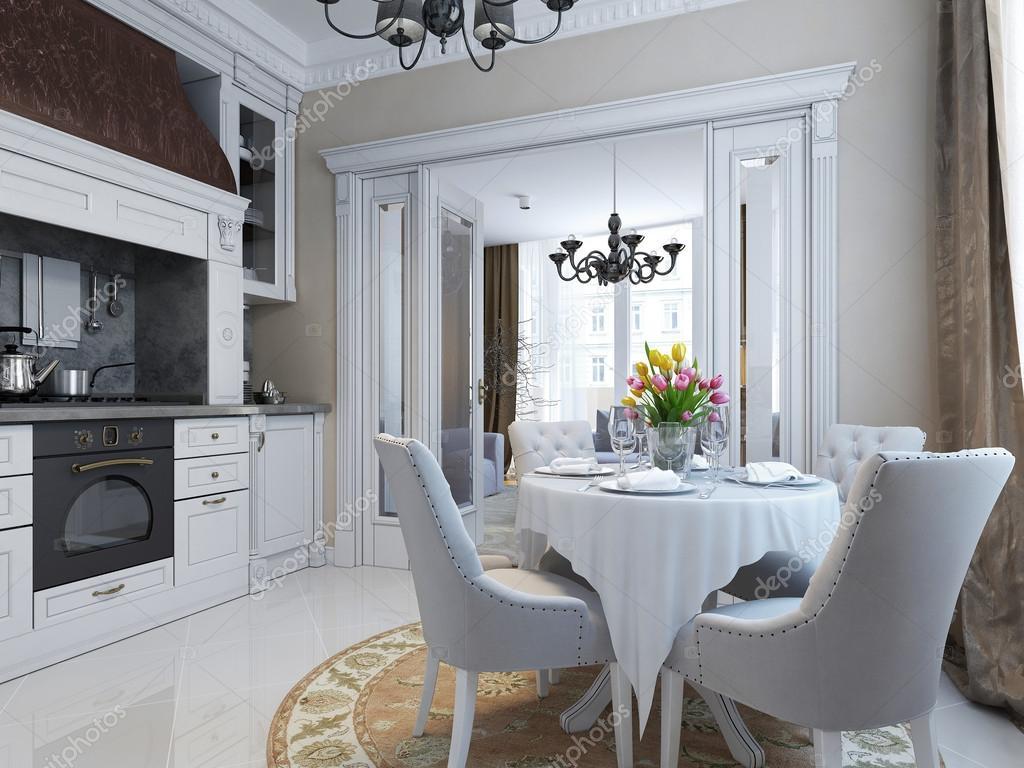 cucina in stile classico — Foto Stock © kuprin33 #51844745