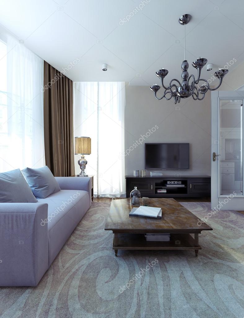 Moderne Wohnzimmer, Esszimmer, Art Deco-Stil — Stockfoto © kuprin33 ...