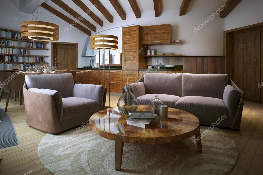 salon dans un style moderne photographie kuprin33 51845797. Black Bedroom Furniture Sets. Home Design Ideas