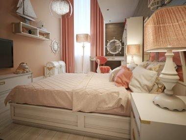Girls bedroom marine style