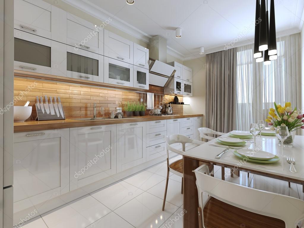 Cucina in stile contemporaneo — Foto Stock © kuprin33 #60964939