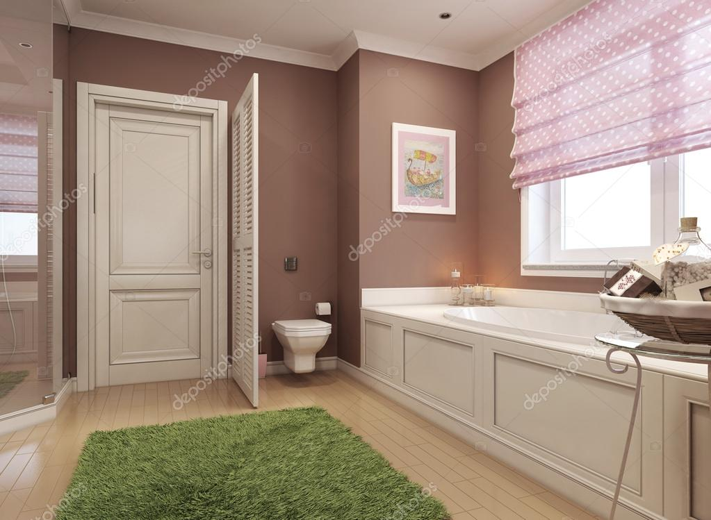 Badkamer Romeinse Stijl : Kinder badkamer klassieke stijl u stockfoto kuprin