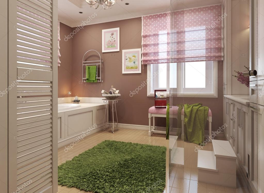 Badkamer Romeinse Stijl : Kinder badkamer klassieke stijl u2014 stockfoto © kuprin33 #60965491