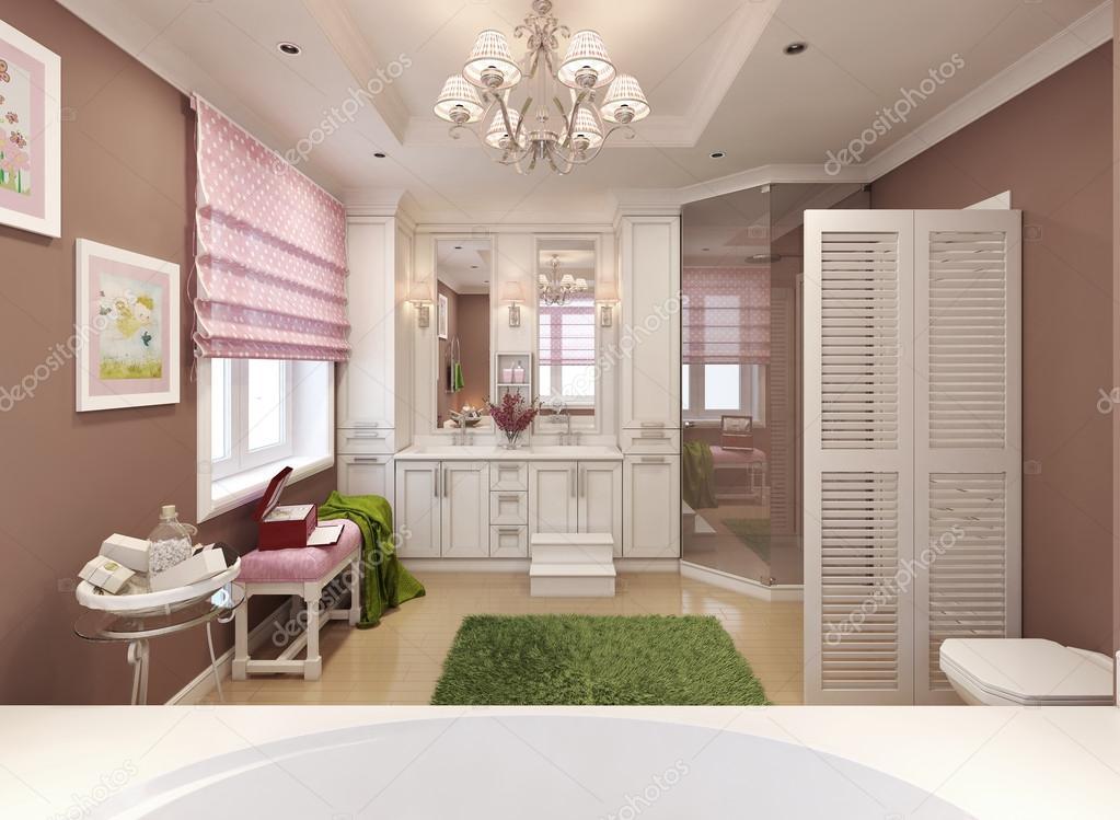 Kinder Badezimmer-klassisch — Stockfoto © kuprin33 #60965555