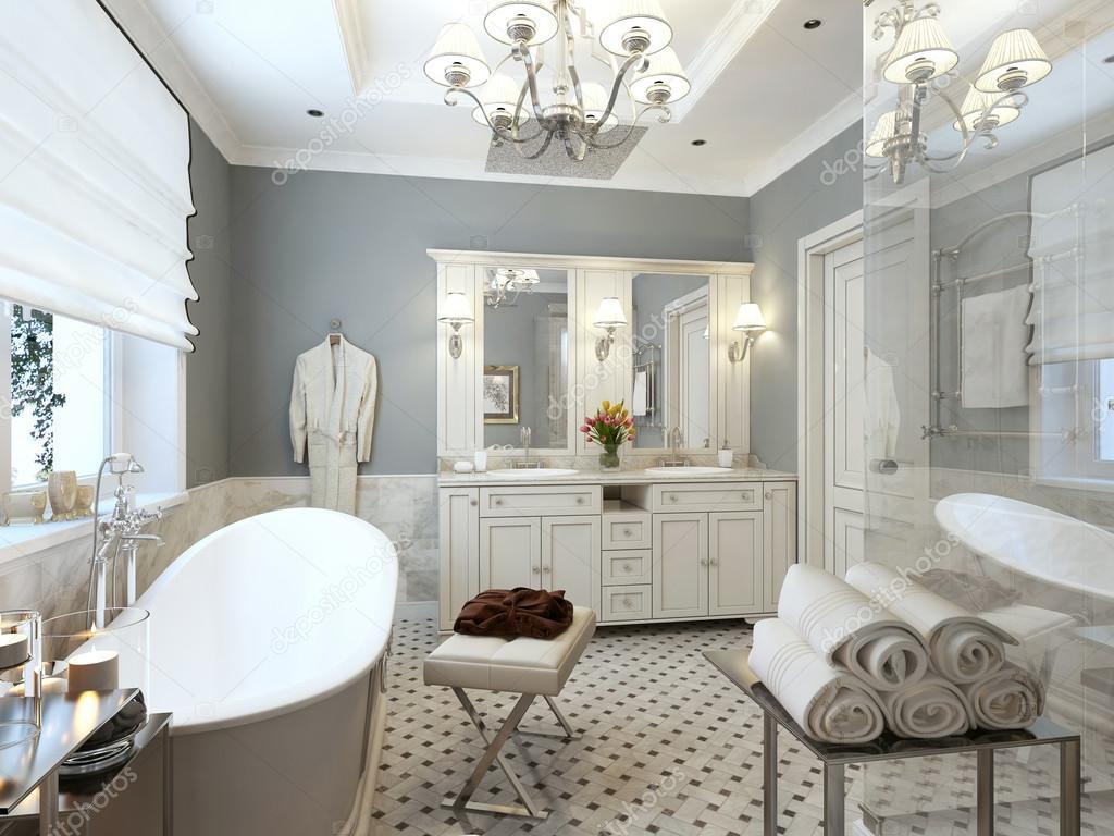 Bathroom Classic Style U2014 Stock Photo