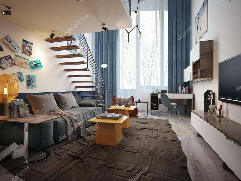teen zimmer im loft stil 3d bilder foto von kuprin33 - Loft Stil