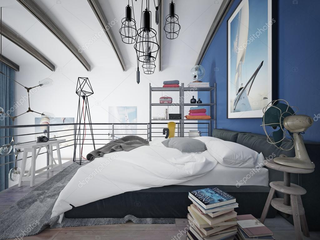 Tiener slaapkamer moderne stijl u2014 stockfoto © kuprin33 #60967227