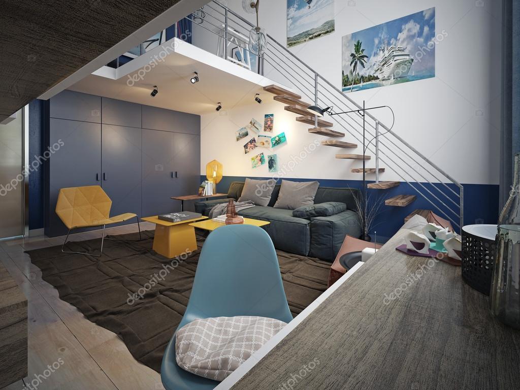 Teen Zimmer Loft Stil Stockfoto C Kuprin33 60967247
