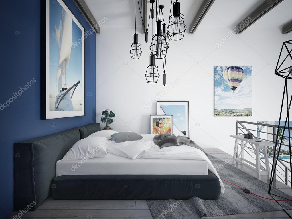 teen schlafzimmer loft stil stockfoto kuprin33 60967299. Black Bedroom Furniture Sets. Home Design Ideas