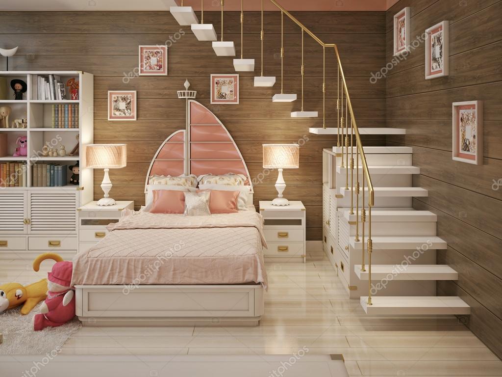 Meisjes slaapkamer mariene stijl u2014 stockfoto © kuprin33 #60967361