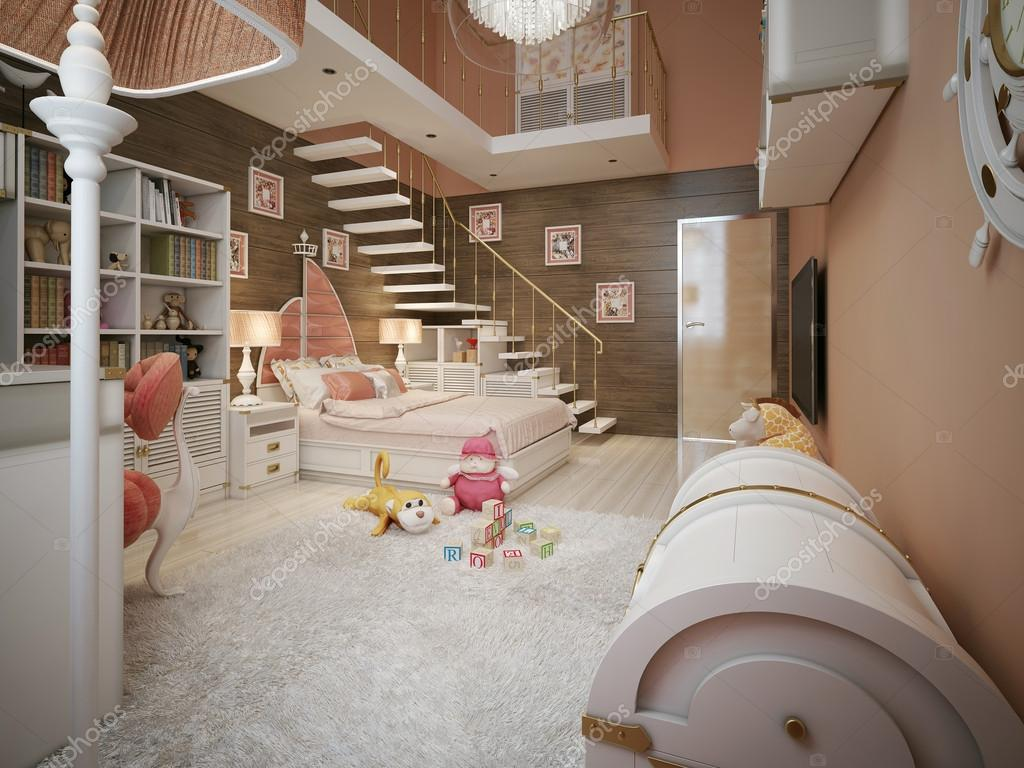 Meisjes slaapkamer in klassieke stijl u2014 stockfoto © kuprin33 #60967453