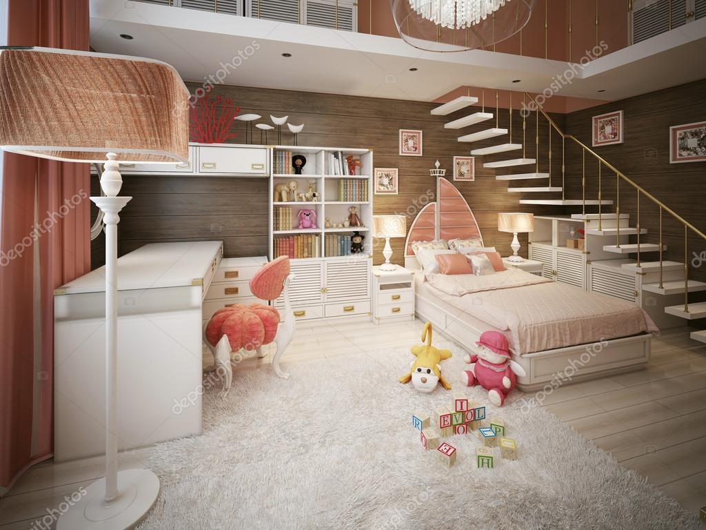 Mädchen Schlafzimmer moderner Stil — Stockfoto © kuprin33 #60967539