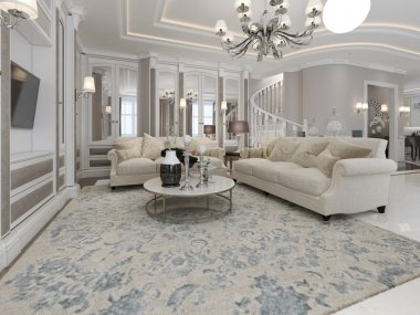 Spacious and luxury living room