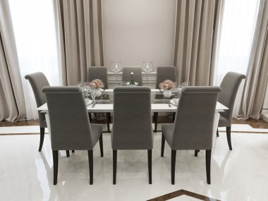 Spacious dining room classic style