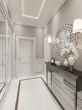 Bright Hallway Art Deco style
