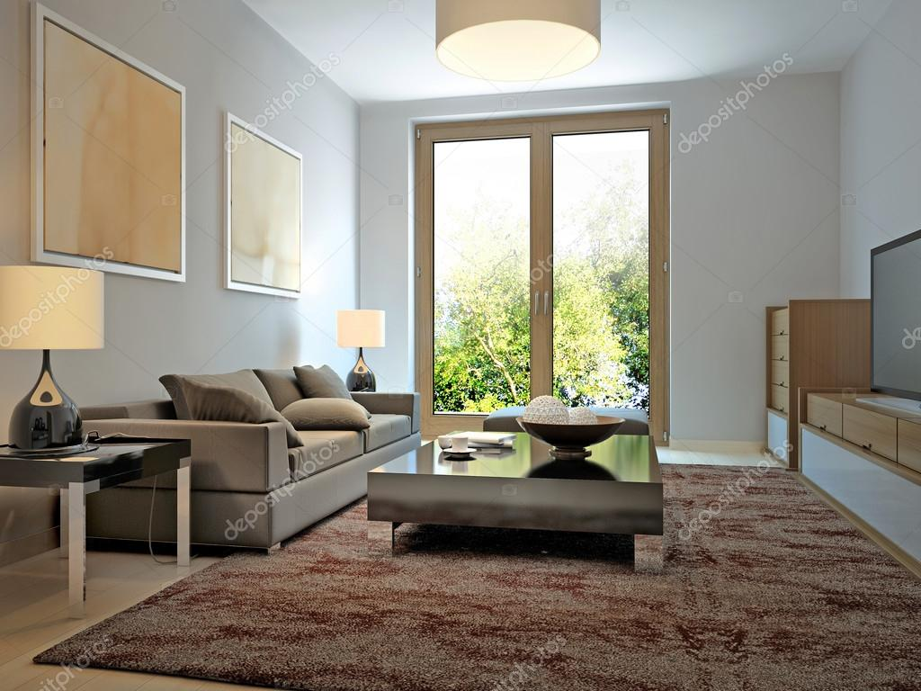Helles Wohnzimmer, moderner Stil — Stockfoto © kuprin33 #77514920