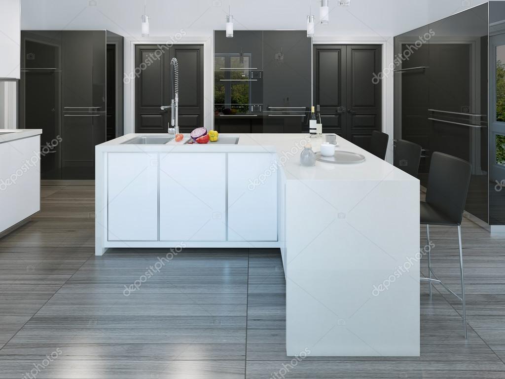 Moderner Stil-Kücheninsel — Stockfoto © kuprin33 #77515256