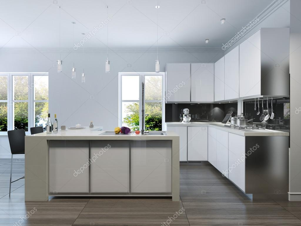 Moderne design keuken interieur u2014 stockfoto © kuprin33 #77515276