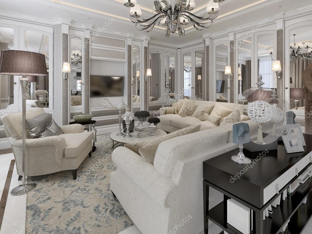 Art Deco Stil Wohnzimmer Stockfoto Kuprin33 77515294