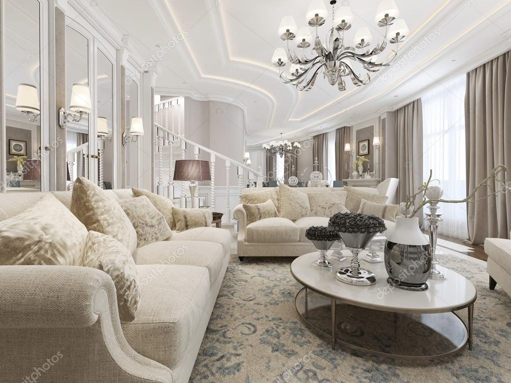 woonkamer klassieke stijl — Stockfoto © kuprin33 #77515330