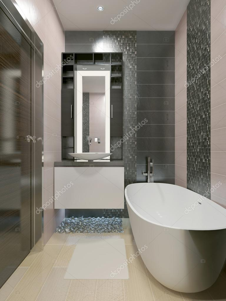 Elegante bagno in stile moderno — Foto Stock © kuprin33 #77517758
