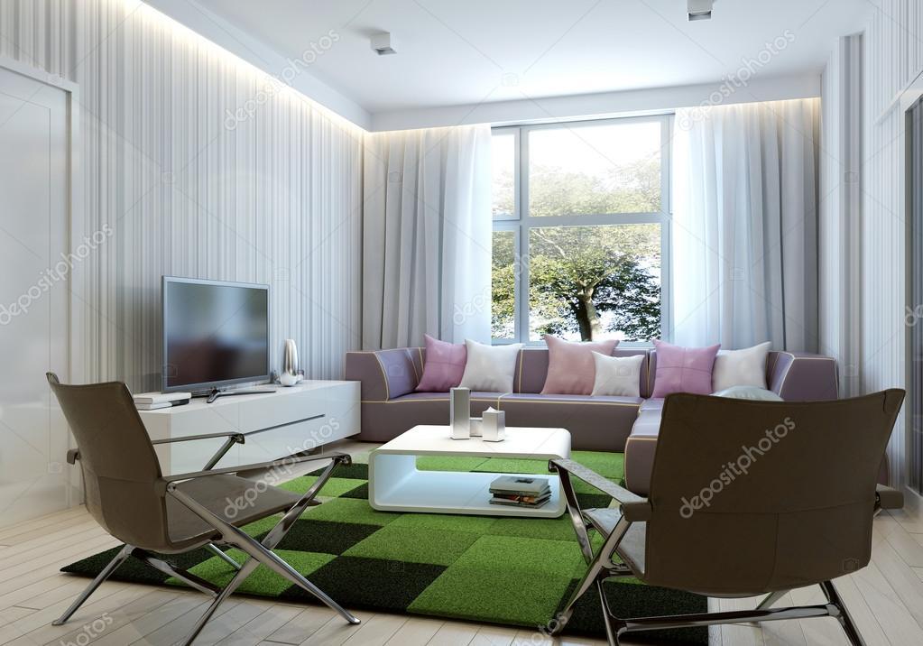 Art-Deco-Stil-Wohnzimmer — Stockfoto © kuprin33 #77518140