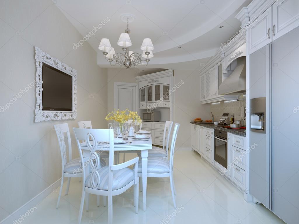 Mooie luxe-eetkamer — Stockfoto © kuprin33 #77518344