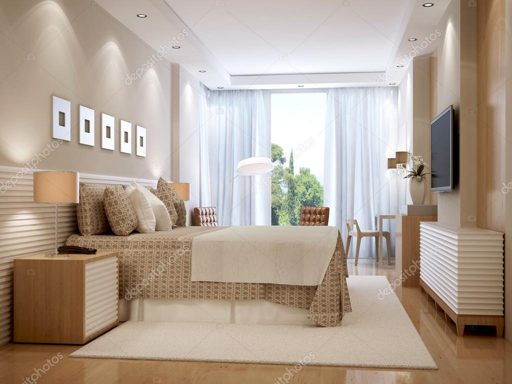 Heldere slaapkamer Scandinavische stijl — Stockfoto © kuprin33 #77519040