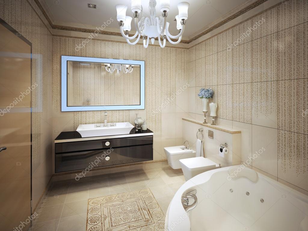Elegante klassische Badezimmer — Stockfoto © kuprin33 #77519812