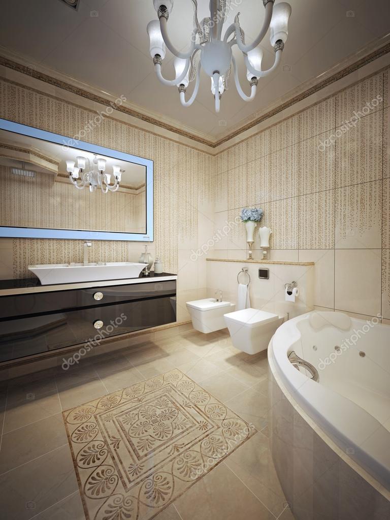 Salle de bain luxueuse avec jacuzzi — Photographie kuprin33 ...