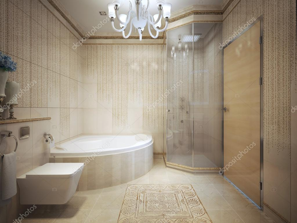 Bathroom Art Deco style. 3d render — Stock Photo © kuprin33 #77519856