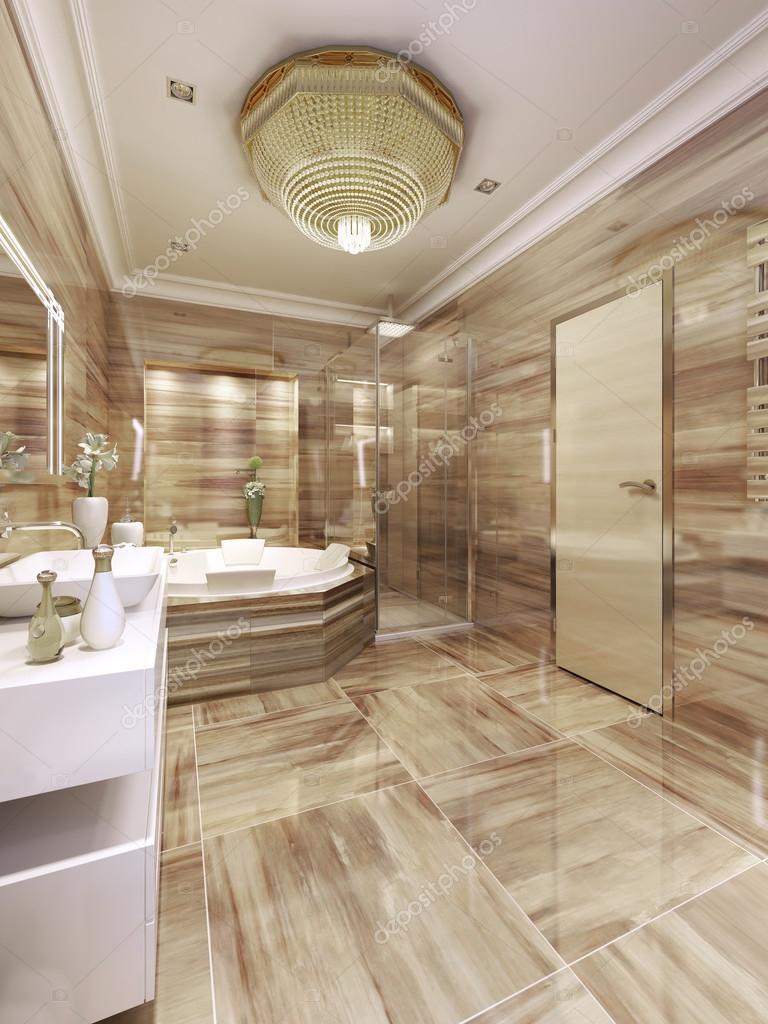 elegantes badezimmer-interieur — stockfoto © kuprin33 #77519906, Badezimmer ideen