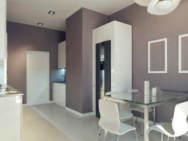 High-tech kitchen interior