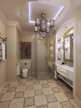 Bright eastern style bathroom