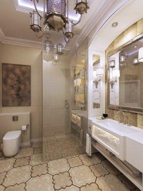 Elegant bathroom moroccan style